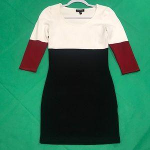 bebe sweater mini dress medium